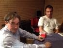 Al tavolo Damiano Bombardieri e Matteo Baldi