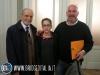 La famiglia Porta: al centro Federico con il nonno Alberto e il papà Massimiliano