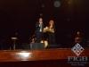 Il Presidente FIGB Giovanni Medugno omaggia Fiorella Mannoia