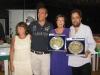 Premiazione del torneo Memorial Medugno con Gianna Arrigoni, il Presidente FIGB Gianni Medugno e i vincitori Valeria Scrivani e Mario Orsenigo