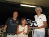 Gianna Arrigoni e Norberto Bocchi rappresentano scherzosamente il sistema Corto-Lungo. A sinistra il Presidente FIGB Gianni Medugno