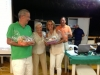 I vincitori del torneo dell'Amicizia: Alberto Gullotta e Ilaria Saccavini