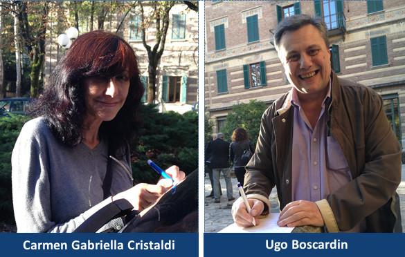 Carmen Gabriella Cristaldi e Ugo Boscardin