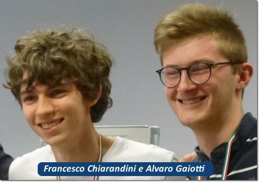 Francesco Chiarandini e Alvaro Gaiotti