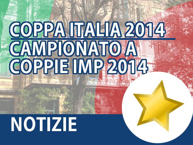 Coppa Italia 2014 Campionato a Coppie IMP 2014